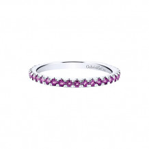 Gabriel & Co. 14k White Gold Amethyst Stackable Birthstone Ring