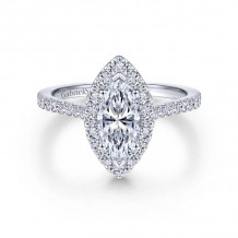 Gabriel & Co. 14k White Gold Contemporary Halo Diamond Engagement Ring - ER6419M4W44JJ
