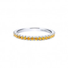 Gabriel & Co. 14k White Gold Citrine Stackable Ring