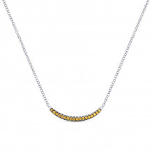 Gabriel Silver Trends Yellow Sapphire Necklace NK3746SVJYS