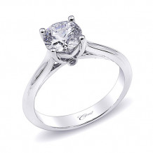 14k White Gold Coast Diamond 0.2ct Diamond Semi-Mount Engagement Ring With Milgrain Details
