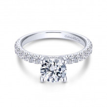 Gabriel & Co. 14k White Gold Contemporary Straight Diamond Engagement Ring - ER13904R4W44JJ