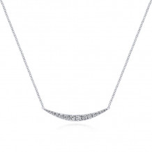 Gabriel & Co. 14k White Gold Lusso Diamond Bar Necklace - NK4879W45JJ