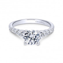 Gabriel & Co. 14k White Gold Contemporary Straight Diamond Engagement Ring - ER11756R4W44JJ