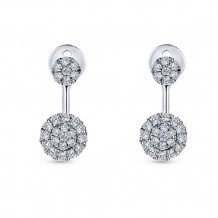 Gabriel & Co. 14k White Gold Lusso Diamond Peek A Boo Earrings - EG12916W45JJ