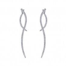 Gabriel & Co. 14k White Gold Kaslique Diamond Drop Earrings - EG12928W45JJ
