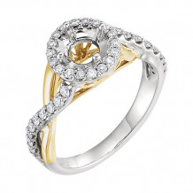 Stuller 14k Two-Tone Round Diamond Semi-mounting Engagement Ring