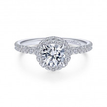 Gabriel & Co. 14k White Gold Contemporary Halo Diamond Engagement Ring - ER14664R3W44JJ