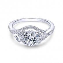 Gabriel & Co. 14k White Gold Contemporary 3 Stone Diamond Engagement Ring - ER5331W44JJ