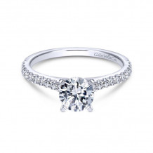 Gabriel & Co. 14k White Gold Contemporary Straight Diamond Engagement Ring - ER6675W44JJ