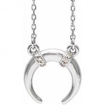 """Sterling Silver .03 CTW Diamond 16-18"""" Necklace"""