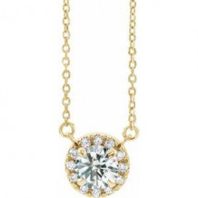 "14K Yellow 1/2 CTW Lab-Grown Diamond French-Set 16-18"" Necklace"