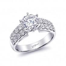 14k White Gold Coast Diamond 0.93ct Diamond Semi-Mount Fishtail Engagement Ring