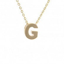 Lau International 14k Yellow Gold Initial G Pendant with Chain