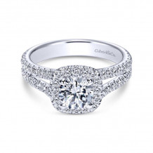 Gabriel & Co. 14k White Gold Contemporary Halo Diamond Engagement Ring - ER8605W44JJ