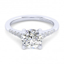 Gabriel & Co. 14k White Gold Contemporary Halo Diamond Engagement Ring - ER11755R8W44JJ