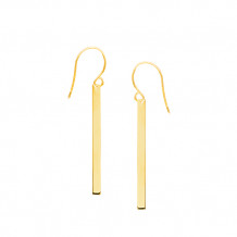 Midas Yellow Tone Sterling Silver Wire Earrings