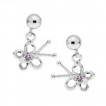 Sterling Silver Sapphire Butterfly earrings