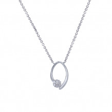 Gabriel & Co. 14k White Gold Cluster Diamond Necklace