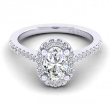 Gabriel & Co. 14k White Gold Contemporary Halo Diamond Engagement Ring - ER6419O4W44JJ