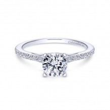 Gabriel & Co. 14k White Gold Contemporary Straight Diamond Engagement Ring - ER8060W44JJ