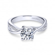 Gabriel & Co. 14k White Gold Contemporary Bypass Diamond Engagement Ring - ER6360W44JJ