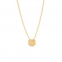 Midas 14k Yellow Gold Mini Clover Disc Necklace