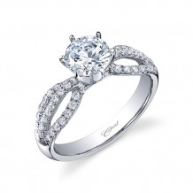 14k White Gold Coast Diamond 0.41ct Diamond Semi-Mount Fishtail Engagement Ring