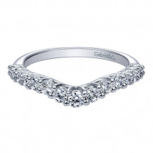 Gabriel & Co 14k White Gold Curved Anniversary Band