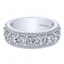 Gabriel & Co 14k White Gold Fancy Anniversary Band