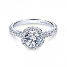 Gabriel & Co. 14k White Gold Contemporary Halo Diamond Engagement Ring - ER7261W44JJ