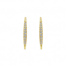 Gabriel & Co. 14k Yellow Gold Kaslique Diamond Drop Earrings - EG13084Y45JJ