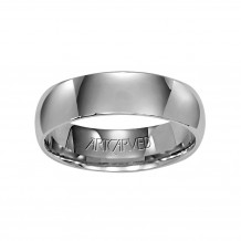 ArtCarved Palladium 5mm Low Dome Comfort Fit Wedding Band