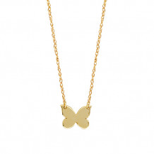 Midas 14k Yellow Gold Mini Butterfly Disc Necklace