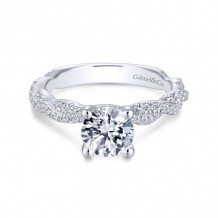 Gabriel & Co. 14k White Gold Contemporary Twisted Diamond Engagement Ring - ER13878R4W44JJ
