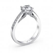 14k White Gold Coast Diamond 0.31ct Diamond Semi-Mount Fine Pave Milgrain Engagement Ring