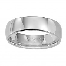 ArtCarved Palladium 6mm Low Dome Comfort Fit Wedding Band