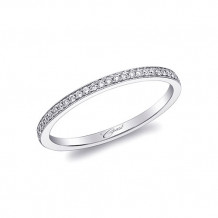 Coast 14k White Gold 0.08ct Diamond Wedding Band