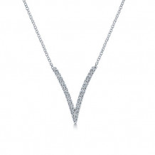 Gabriel & Co. 14k White Gold Kaslique Diamond Necklace - NK4720W45JJ