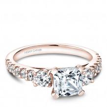 Noam Carver 14k Rose Gold 3 Stone Style Diamond Engagement Ring