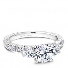 Noam Carver 14k White Gold 3 Stone Style Diamond Engagement Ring