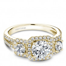 Noam Carver 14k Yellow Gold 3 Stone Style Diamond Engagement Ring
