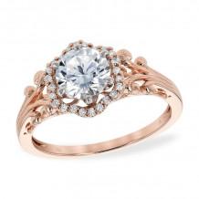 Allison Kaufman 14k Rose Gold Diamond Vintage Semi-Mount Engagement Ring