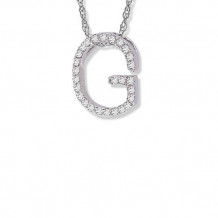 Lau International White Gold Diamond Initial G Pendant