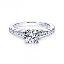 Gabriel & Co. 14k White Gold Contemporary Straight Diamond Engagement Ring - ER12324R3W44JJ