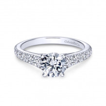 Gabriel & Co. 14k White Gold Contemporary Straight Diamond Engagement Ring - ER8259W44JJ