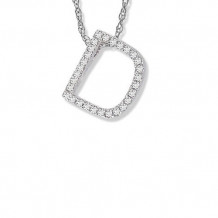 Lau International 14K White Gold Diamond Initial D Pendant