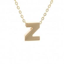 Lau International 14k Yellow Gold Initial Z Pendant with Chain
