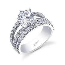 14k White Gold Coast Diamond 1.36ct Diamond Semi-Mount Fishtail Engagement Ring