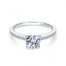 Gabriel & Co. 14k White Gold Contemporary Straight Diamond Engagement Ring - ER7973W44JJ